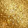 Stock Vector: Vector gold background with sequins