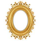 Vector illustration of gold vintage frame — Stock Vector
