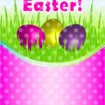 Happy Easter vector card — Stock Vector #9403241