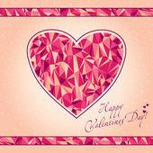 Mosaic heart. — Stock Vector