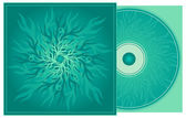 CD cover in turquoise. — Stock Vector