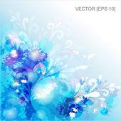 Фон синий вектор с кляксы — Cтоковый вектор