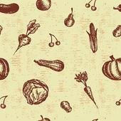 Good harvest seamless background — Stock Vector