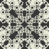 Openwork geometric seamless pattern — Stock Vector