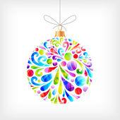 Colorful Christmas ball — Stock Vector