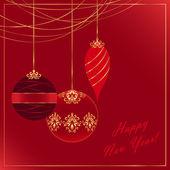 новогодняя открытка — Cтоковый вектор