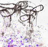 Artistic background with violet splashes — Stock Photo