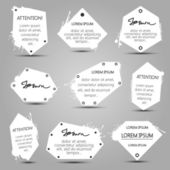 Set van witte banners — Stockvector