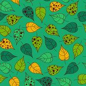 Seamless leafy wallpaper tile — Stock Vector