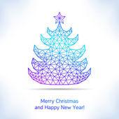 Geometric Christmas tree — Stock Vector
