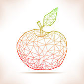Geometric apple. — Stock Vector