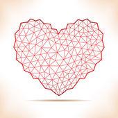 Geometriska hjärta. — Stockvektor