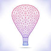 Geometric air ballon. — Stock Vector