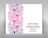 Invitation with floral decoration. — Stock Vector