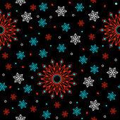 Seamless pattern fiori geometrici. — Vettoriale Stock