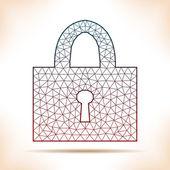 Geometric padlock. — Stock Vector