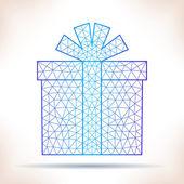 Geometric gift. — Stock Vector