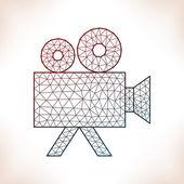 Geometric videocamera. — Stock Vector