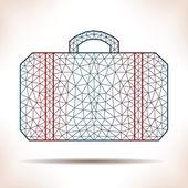 Geometric suitcase. — Stock Vector