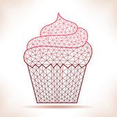 Geometric cupcake. — Stock Vector
