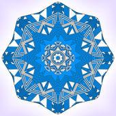Blue geometric mandala. — Stock Vector
