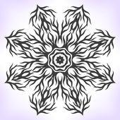 Abstract black mandala. — Stock Vector