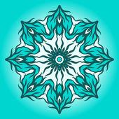 Soyut mavi mandala. — Stok Vektör