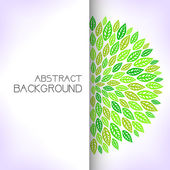 Green floral background. — Stock Vector