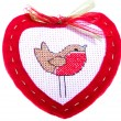 Red Heart with little bird — Stock Photo #38423057