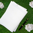 Blank white paper  — Stock Photo