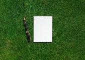 Prázdné otevřené notebook — Stock fotografie