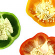 Slices of colorful sweet bell pepper - Foto Stock