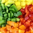 Slices of colorful sweet bell pepper — Stock Photo #23185422
