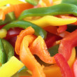Slices of colorful sweet bell pepper  — Stock Photo #24704421
