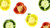 Parts of colorful sweet bell pepper — Stock Photo