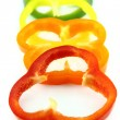 Slices of colorful sweet bell pepper — Stock Photo