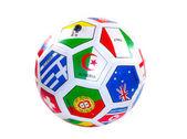 Voetbal met vlaggen — Stockfoto