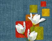 Flowers postcard — Stock Photo