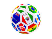 Soccer ball with flags — Stock Photo