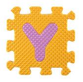 Puzzle alfabet — Zdjęcie stockowe