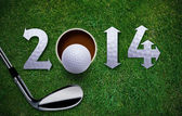 Happy New Golf year — Stock Photo