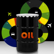 Stock Photo: Petroleum Barrel