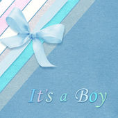 Baby boy arrival card — Stock Photo