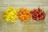 Tranches de poivron doux coloré — Photo