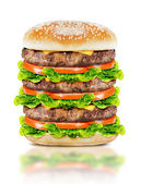 Delicious big burger  — Stock Photo