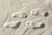 Couple steps on the sand — Stock Photo