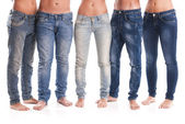 Group of jeans — Stockfoto