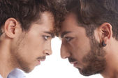 Two men against each other — Stock Photo