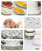 Wedding food collage — Stock Photo