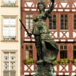 Justice statue Fankfurt — Stock Photo